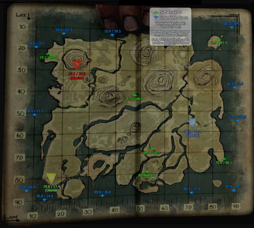 Caves and Dungeons - cave map