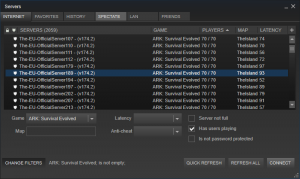 Steam Server List
