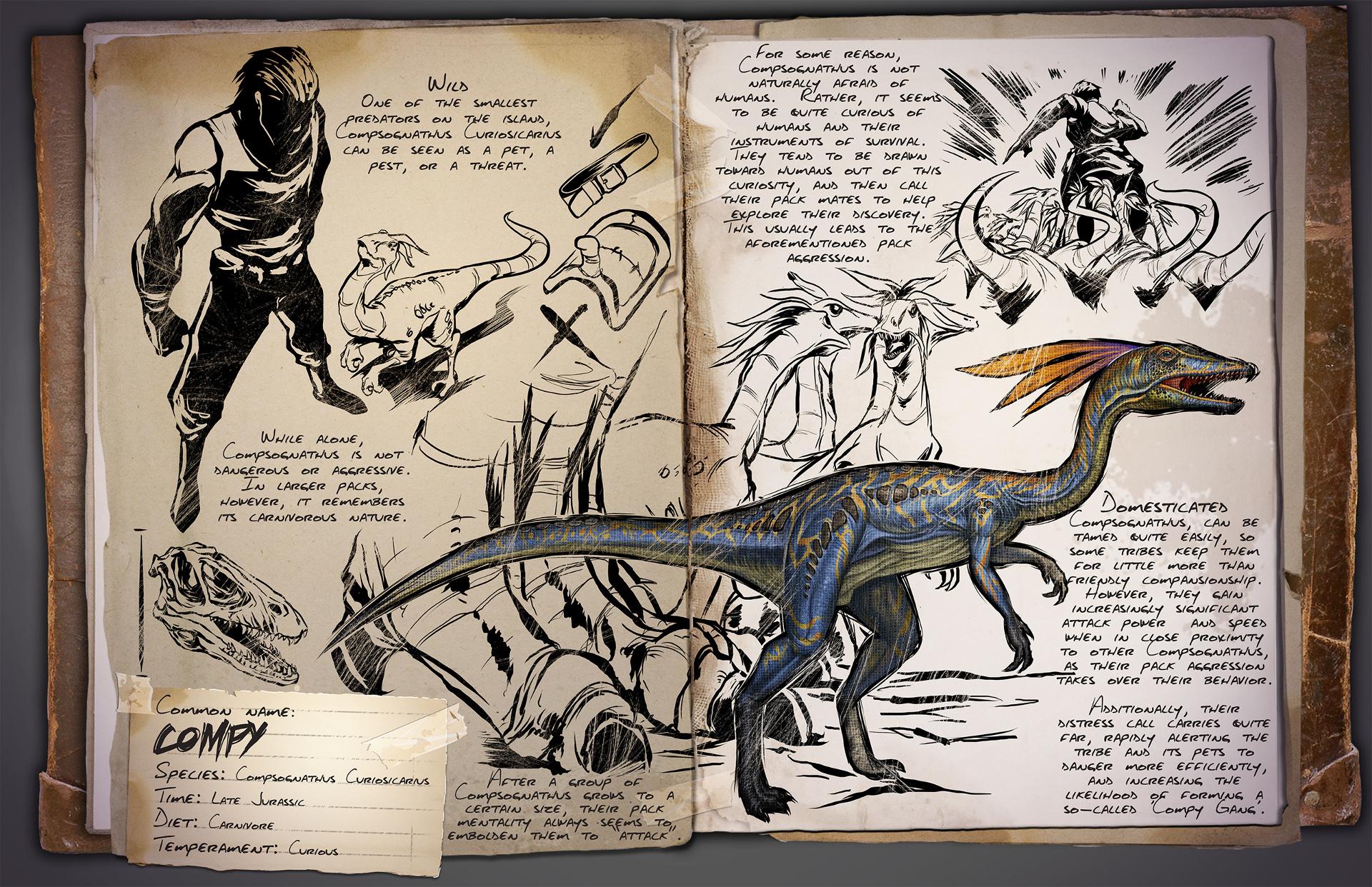 Dino Dossier: Compsognathus Curiosicarius aka Compy